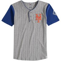 2ecd4d02 Product Image New York Mets Majestic Youth Life or Death Henley T-Shirt -  Gray
