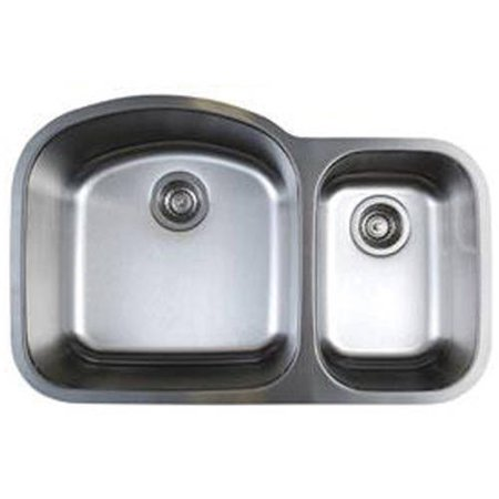 "Blanco 441022 Stellar 20.5"" X 31.75"" Double-Basin Stainless Steel Undermount Kitchen Sink, Stainless Steel"