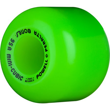 Powell Peralta Mini-Cubic Green Skateboard Wheels - 64mm 95a (Set of (Powell Peralta Lance Mountain Future Primitive Deck)