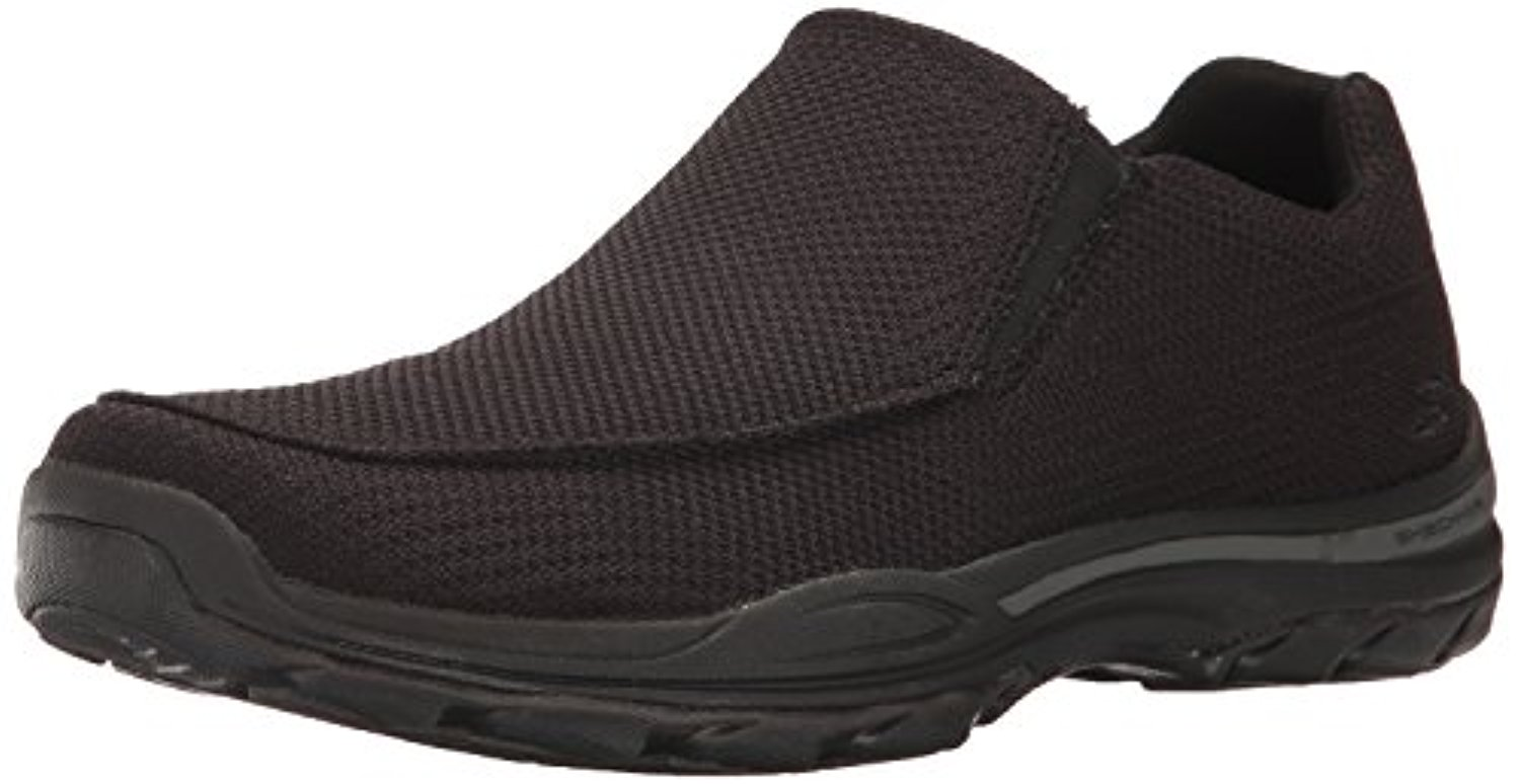 65082 W Wide Fit Black Skechers Shoe Men Memory Foam Comfort Mesh Slip On Casual by Skechers