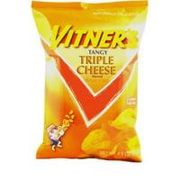 CJ Vitner's Tangy Triple Cheese Flavored Potato Chips, 8.5 Oz.