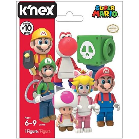 K'Nex Super Mario Mystery Bag - Series 10 (1 Mystery Figure Per Bag), Build your favorite Super Mario characters! By Super Mario Brothers From USA](Mario Brothers Princess Daisy)