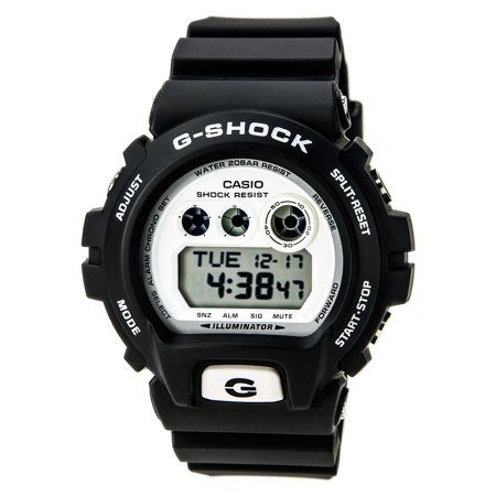 GDX6900-7 Men's G-Shock White Digital Dial Black Resin Strap Chronograph Alarm Dive Watch