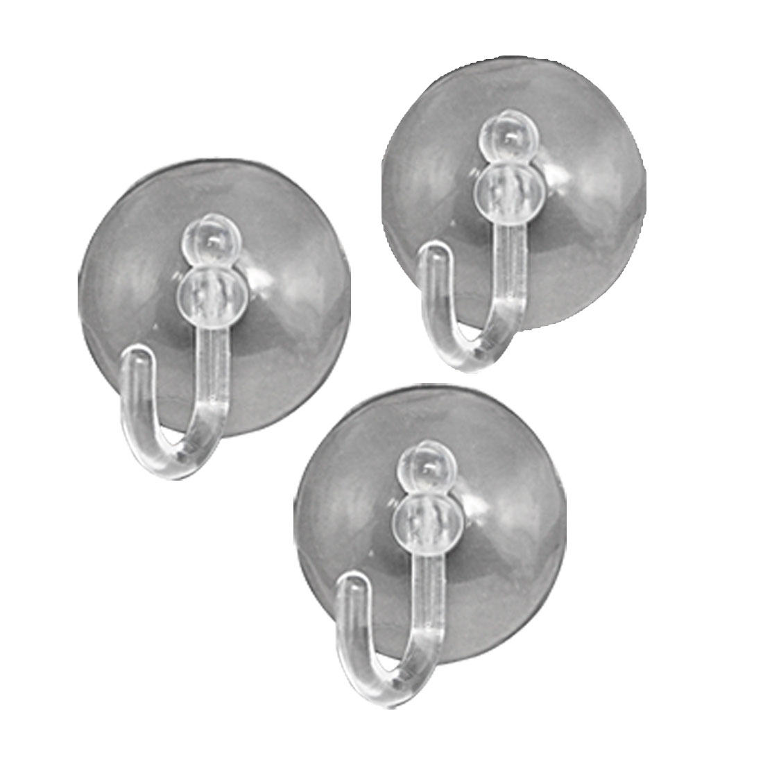 3pcs White Suction Cup Wall Hooks For Towels Bathroom Kitchen