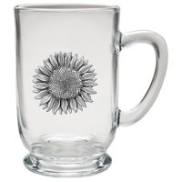 Sunflower Coffee Mug, Clear