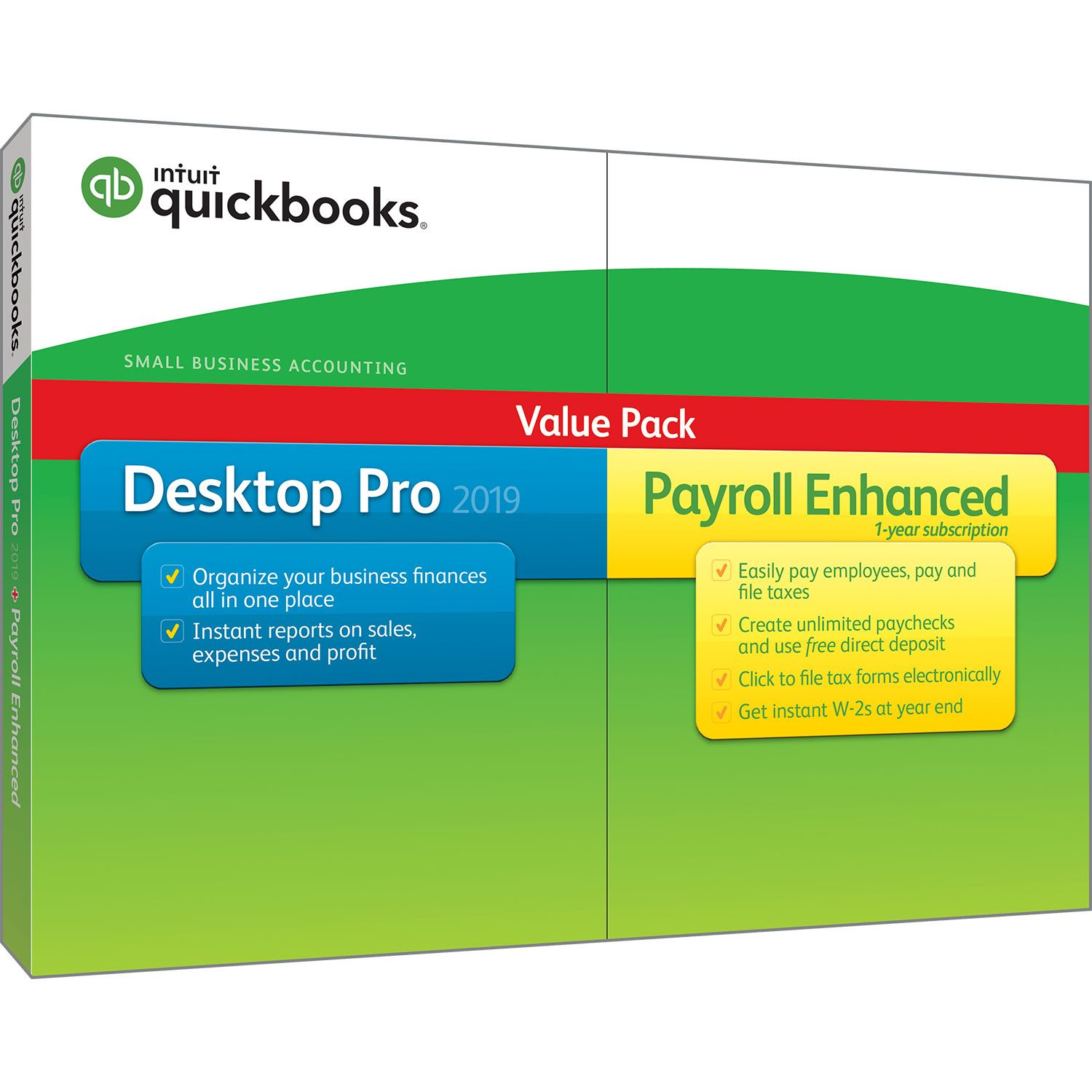 Intuit QuickBooks Desktop Pro with Enhanced Payroll 2019