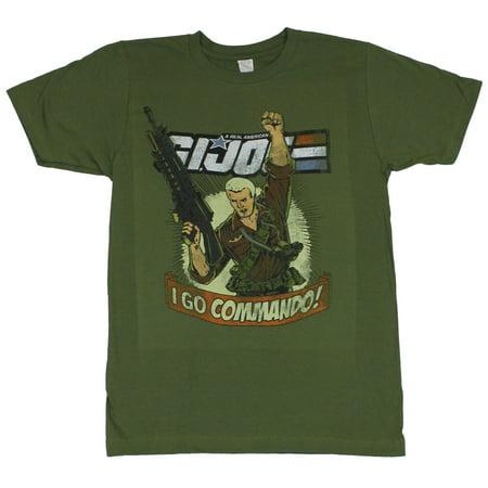 GI Joe Mens T-Shirt  - Duke I Go Commando on Military (Did Duke Die In Gi Joe 2)