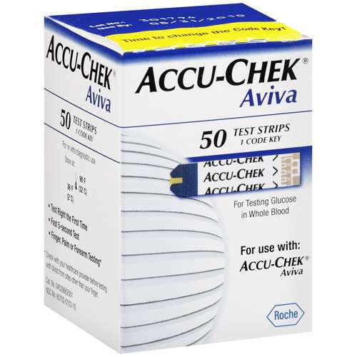 ACCU-CHEK Aviva Blood Glucose Test Strips 50ct