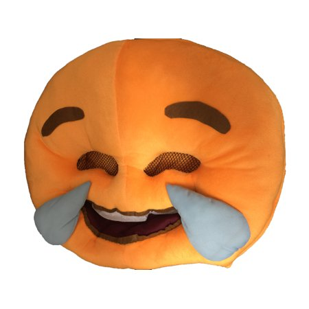 Creative Motion 22051 Happy Tears Emoji Mask Halloween Everyday Mask](Halloween Emoji Text)