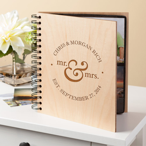 Personalized Mr. and Mrs. Wood Photo Album