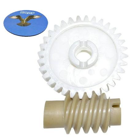 HQRP Drive and Worm Gear Kit for Chamberlain 41A2817 41A2817CR 41C4220 41C4220A Garage Door Opener Access System + HQRP Coaster