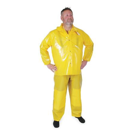 half price free delivery 2019 best sell Condor 4PCK4 3XL Yellow Polyurethane Rain Jacket with Detachable Hood