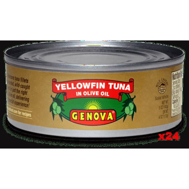 Genova Tuna In Olive Oil Case 24x142g 5oz Walmart Com Walmart Com