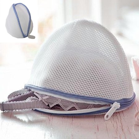 Mesh Net Laundry Bag Bra Zipped Wash Basket Underwear Sock Delicate