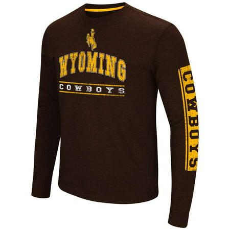 Wyoming Cowboys Colosseum Sky Box L/S T-Shirt - Arch (Wyoming Cowboys Ulti Mat)
