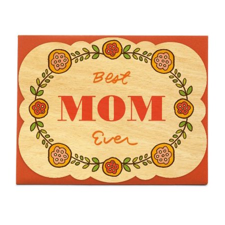 Folksy Flowers Wood Mother's Day Card by Night Owl Paper Goods