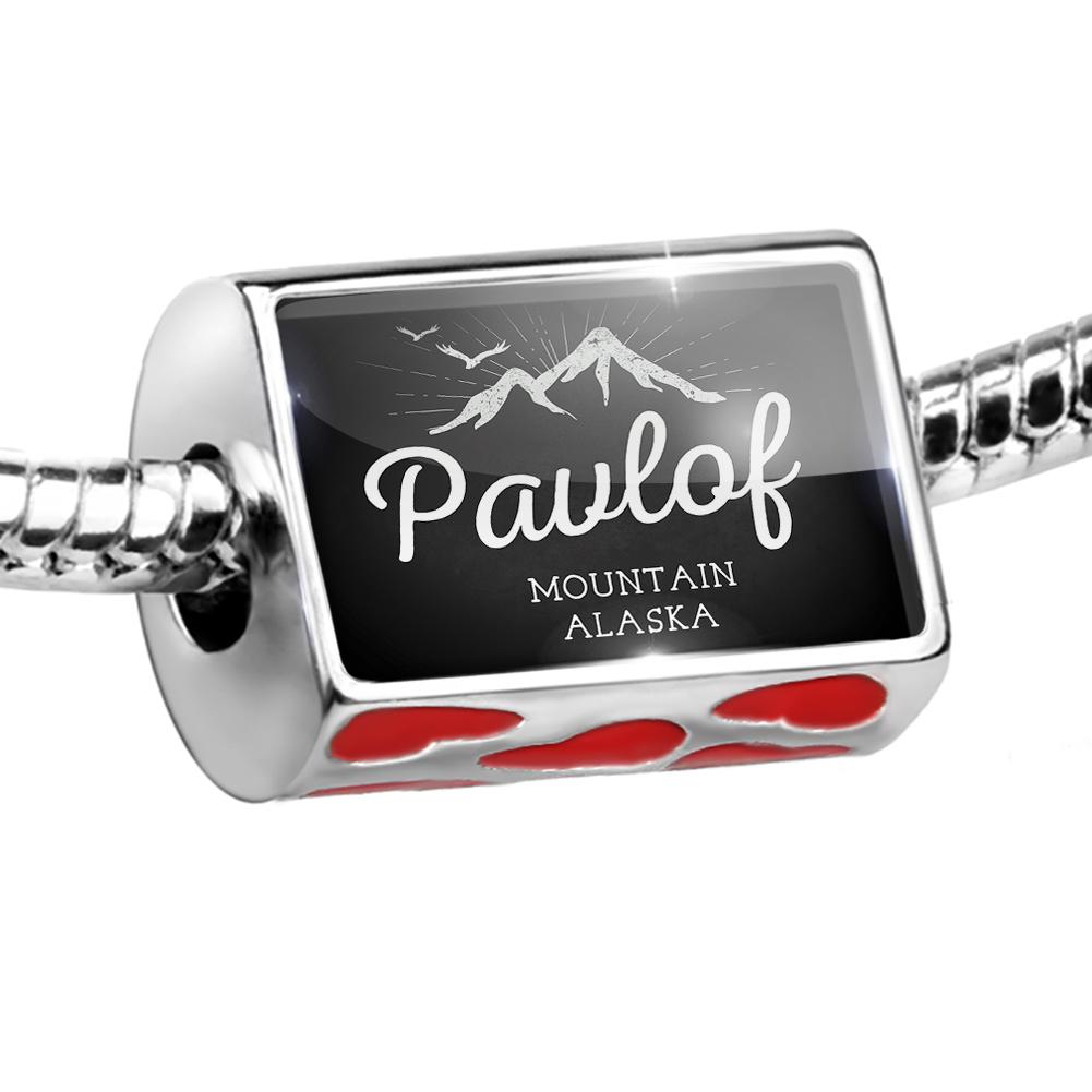 Bead Mountains chalkboard Pavlof Mountain - Alaska Charm Fits All European Bracelets