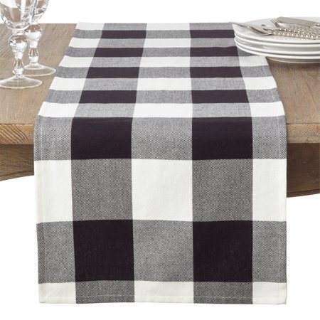 Saro Lifestyle Cotton Table Runner With Buffalo Plaid Pattern ()