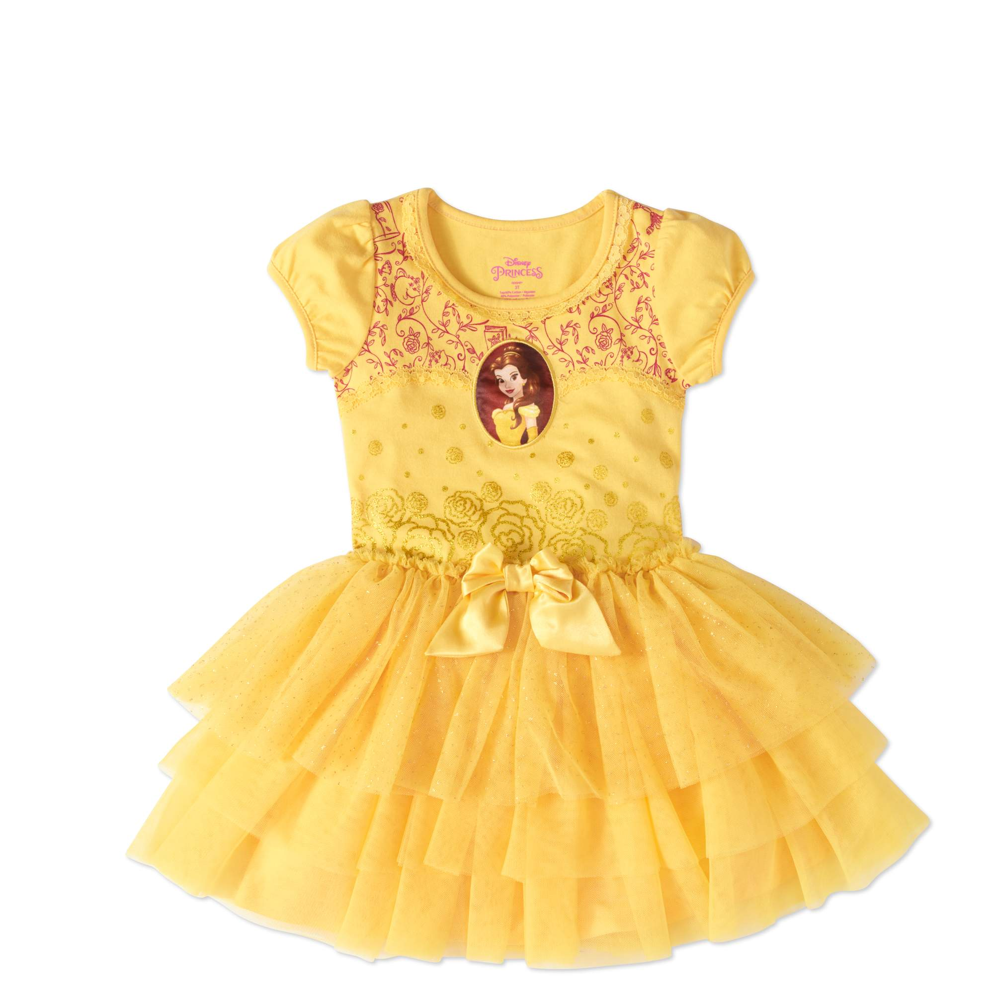 "Belle ""Beauty and the Beast"" Toddler Girl Tutu Dress"