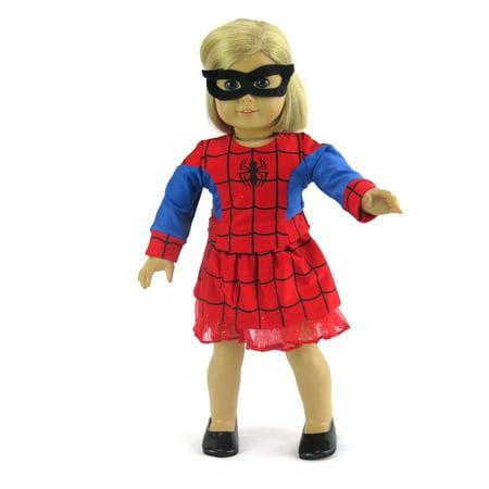 Blue Little Spider Girl Halloween Costume-Fits 18