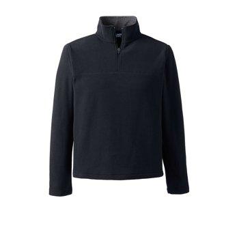 Lands End Men's Fleece Quarter Zip Pullover Sweatshirt