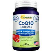 Best Coq10 Supplements - Pure CoQ10 (200 Capsules, High Potency 200mg) Review