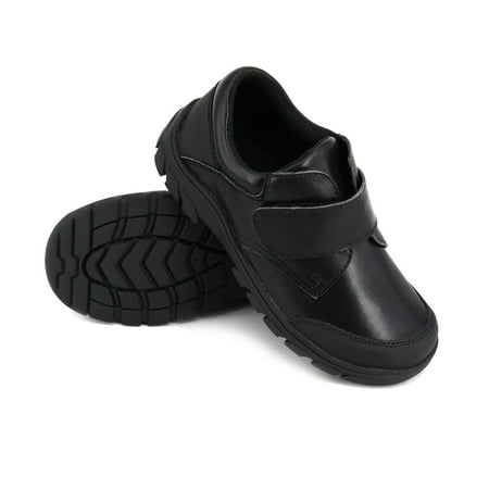 6082feb412 HapHappystep® Genuine Leather Toddler Little Boy School Uniform Dress  Formal Shoes Monk Strap (Black ...