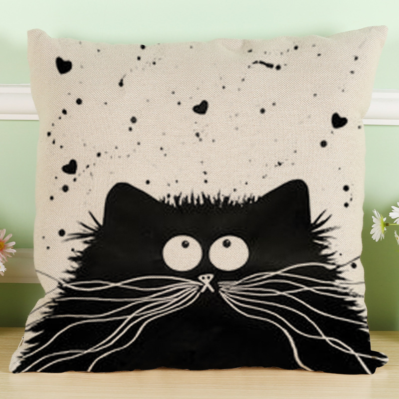 Throw Pillows Case, Justdolife Cute Cat Cushion Cover Bed Sofa Square Throw  Pillow Case Home