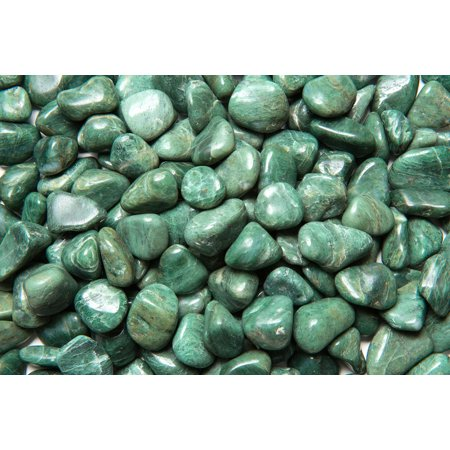 Fantasia Crystal Vault: 1/2 lb Top Grade Green Jade Tumbled Stones - Medium - 1