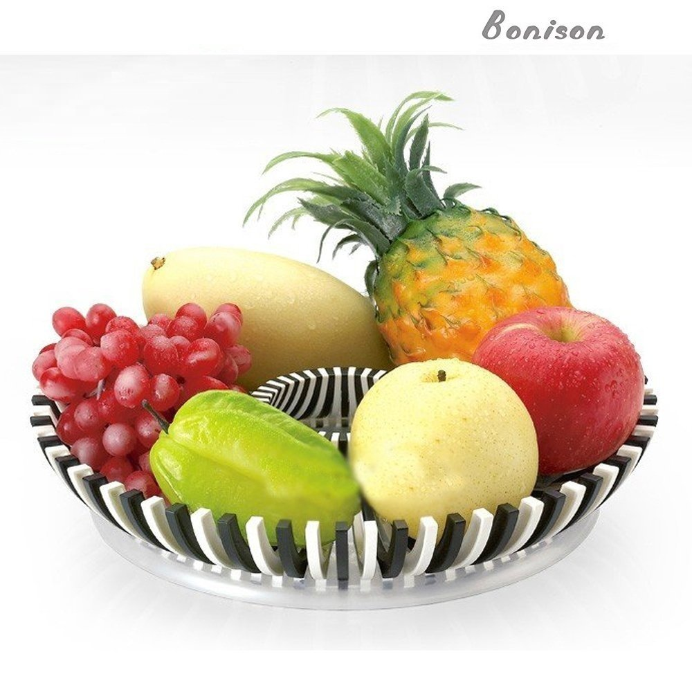 Clearance Sale Shatter Proof Fruit Tray Platter Diy Compote Tough Abs Plastic Fruit Bowl Make Beautiful Fruit Arrangements White Black Fruit