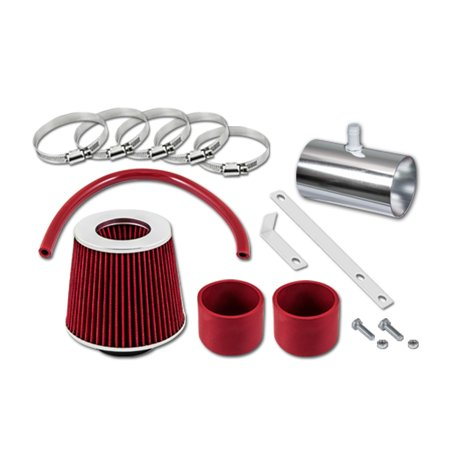 RL Concepts Red Short Ram Air Intake Kit + Filter 07-11 GMC Acadia All Model with 3.6L (Acadia Model)