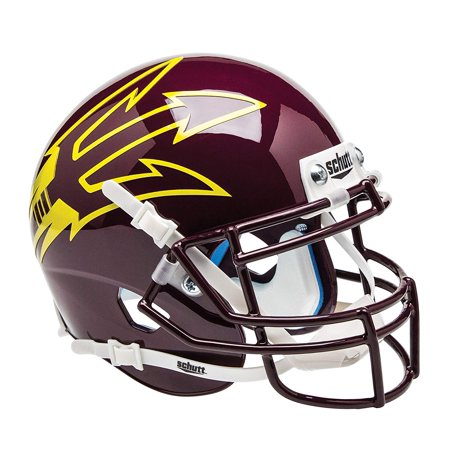 Authentic Ncaa Football Helmets (NCAA Arizona State Sun Devils Mini Authentic XP Football Helmet, Genuine on field helmet scaled down to 1/4 size By)