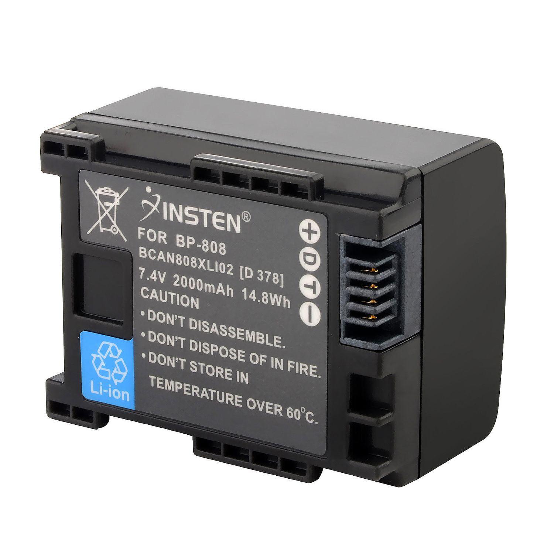 Micro USB Cargador para CANON BP-808 BP808 FS10 FS11 FS100