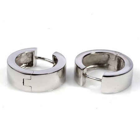 Clic Sterling Silver Huggie Hoop Earrings