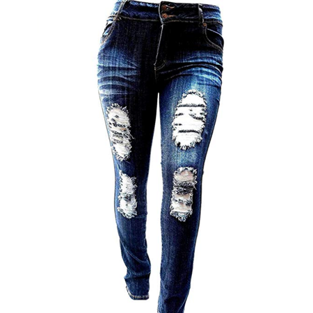 Sweet Look/Pasion/Studio Q/Womens Super Plus Size Ripped Destroy Denim Distressed Skinny Jeans Pants Size-14 to (Best Looking Ripped Jeans)