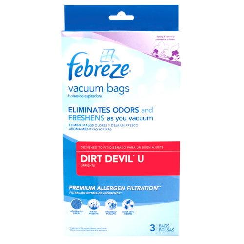 Febreze Vacuum Bags, Dirt Devil Style U, Pack of 3