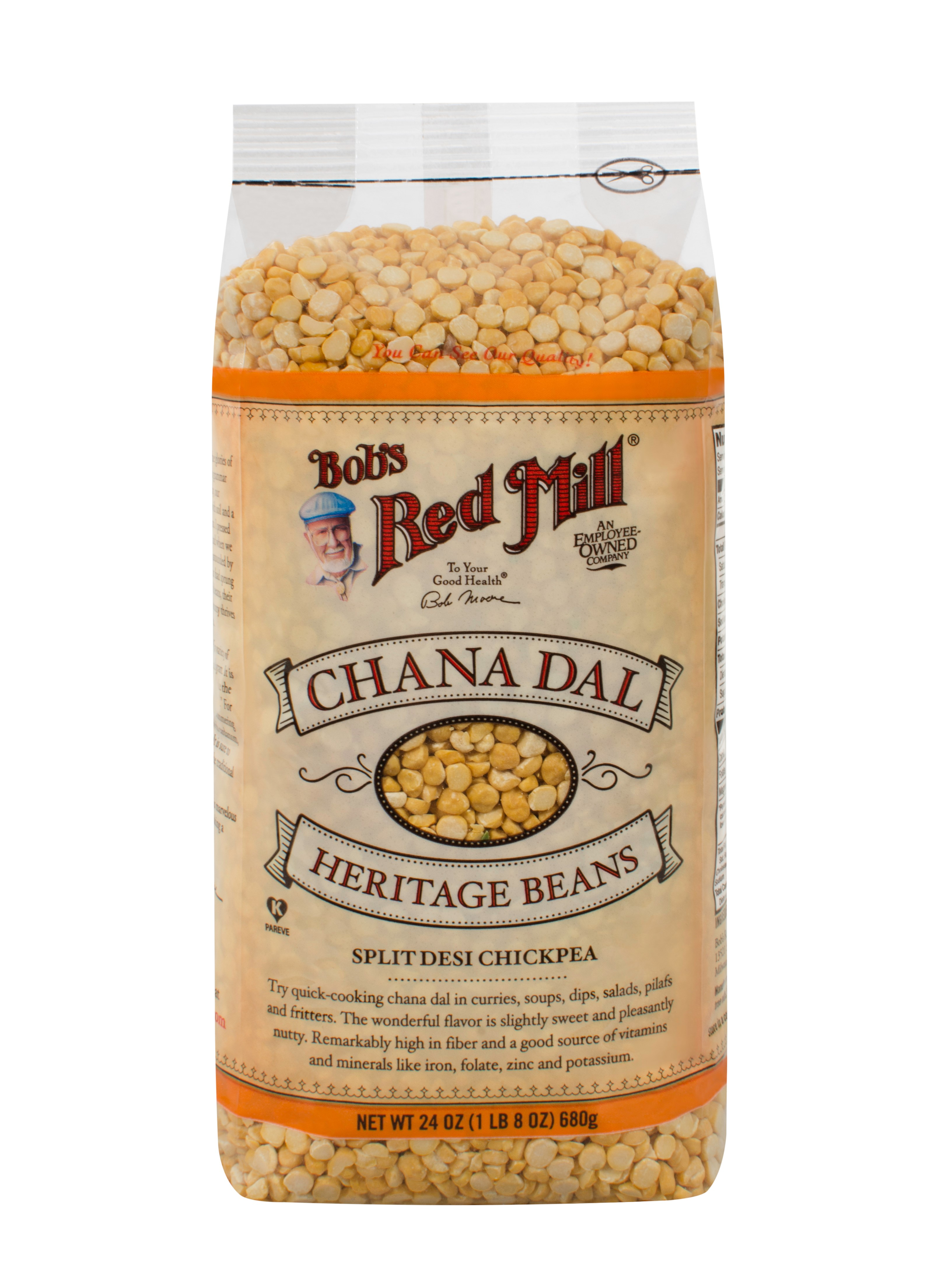 Bobs Red Mill Chana Dal Beans, 24 Oz by Bob'S Red Mill