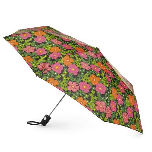 Totes Mini Automatic Umbrella, Cheery Floral