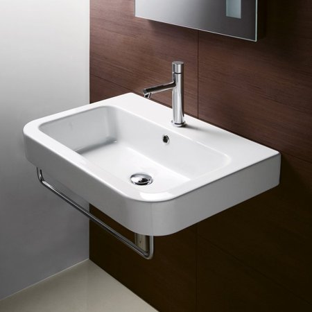 Scarabeo GSI Collection Traccia Ceramic Wall Mount Bathroom Sink - Scarabeo bathroom sinks