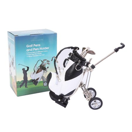 - Elegantoss Miniature Golf Bag Pen Holder, Mini Desktop Golf Souvenir Set with 3 Pens Shaped Like Golf Clubs, Novelty Golf Gift Set for Any Golf Enthusiast