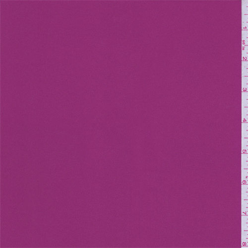 Deep Berry Pink Crepe Back Satin, Fabric By the Yard