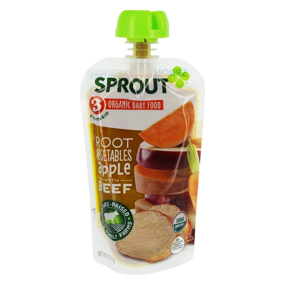 Sprout – Organic Baby Food Stage 3 8 Months (Pack of 2)