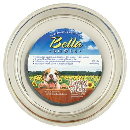 Loving Pets Bella Expression Medium Fleur De Lis Bowl  Antique Gold