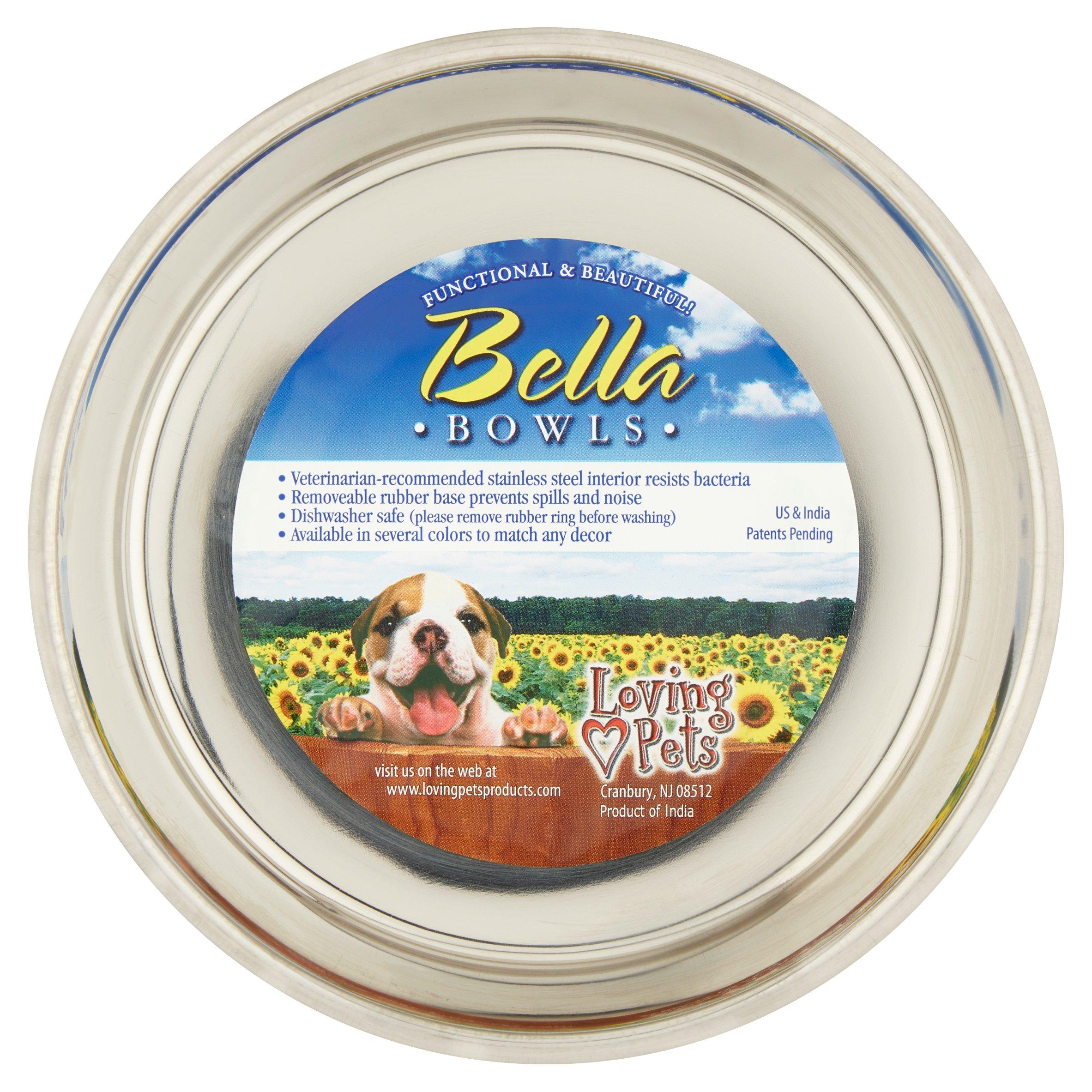 Loving Pets Bella Expression Medium Fleur-de-Lis Bowl, Antique Gold