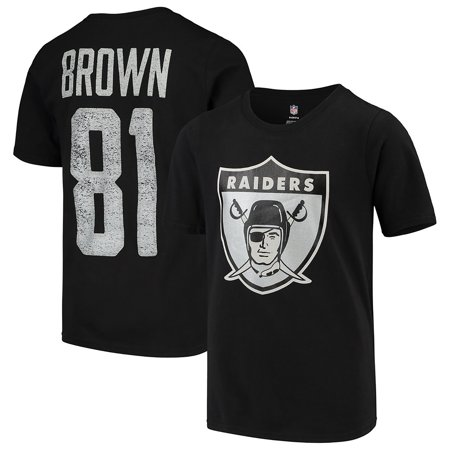 Tim Brown Oakland Raiders Youth Retired Player Vintage Name & Number T-Shirt - Black