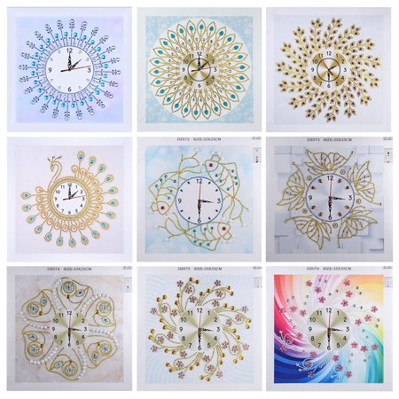 Watch Diamond Paintings DIY 5D Diamond Painting Crystal Special Shape Diamond for Home Wall Decoration - image 4 of 7