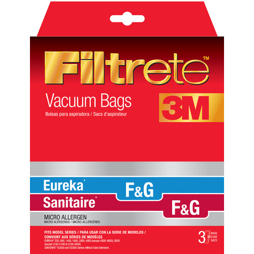 Eureka Size F and G Filtrete Vacuum Bags (Set of 3)