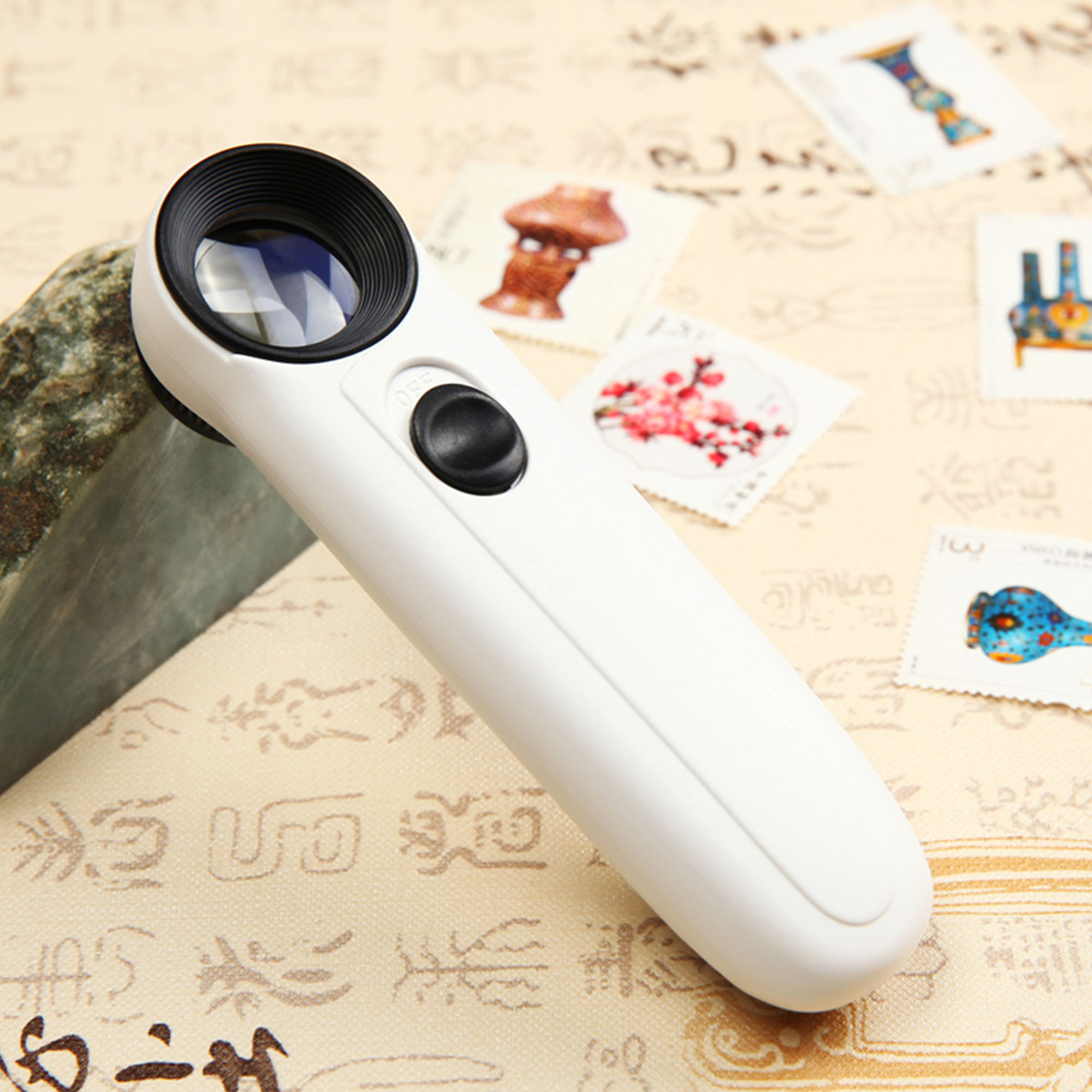 40X 2 LED Light Magnifier Jeweler Loupe Loop Magnifying Glass Jewelry Eye Portable Microscope