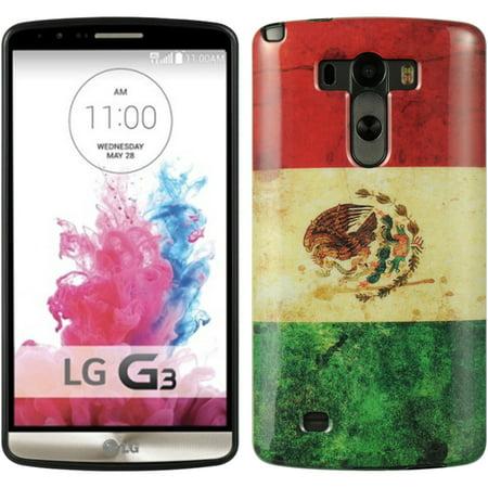 Insten TPU Imd Flag Design Rubber Skin Gel Back Shell Case For LG G3 - Mexico