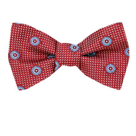 Circle Silk Tie - Mens Silk Self Tie Bow Tie